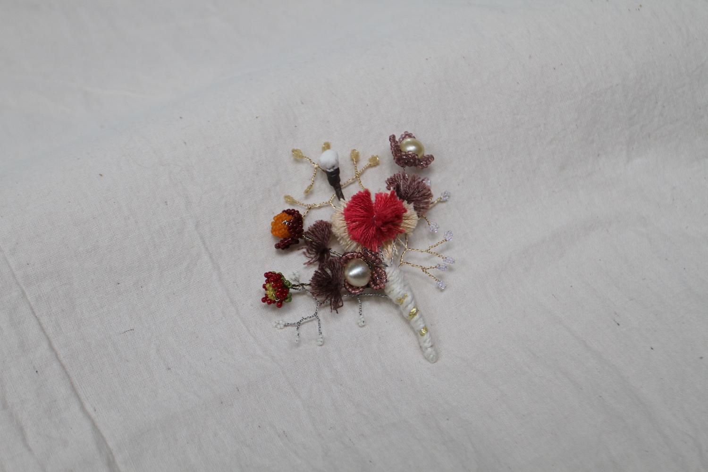 handmade boutonniere pin