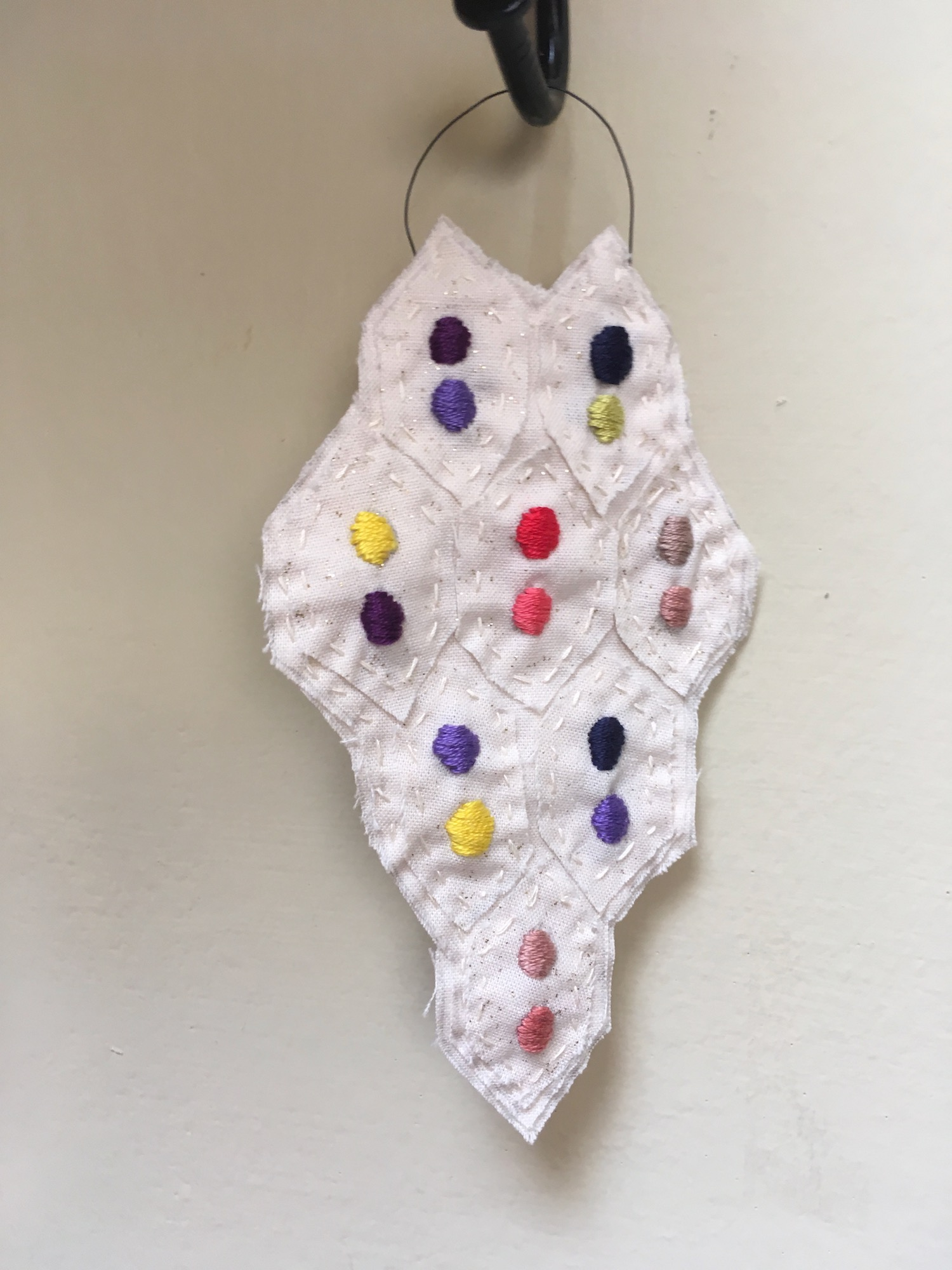textile wall hanging no. 5 - dot by dot