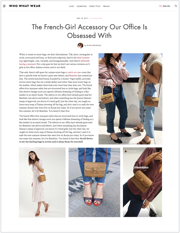 Who What Wear , May 18, 2017  The French-Girl Accessory Out Office Is Obsessed With
