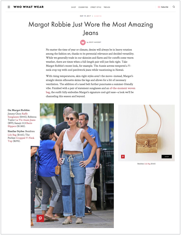 Who What Wear , May 19, 2017  Margot Robbie Just Wore the Most Amazing Jeans