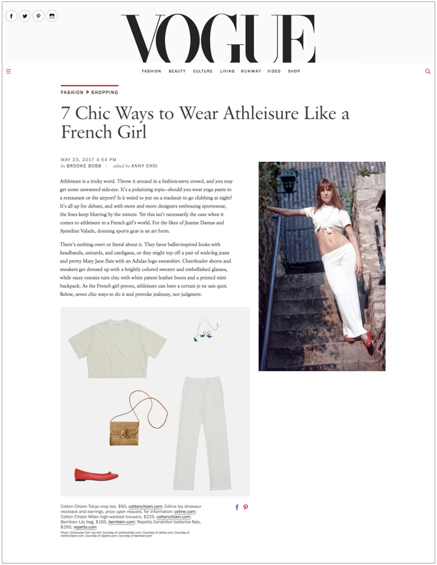 VOGUE , May 24, 2017  7 Chic Ways to Wear Athleisure Like a French Girl