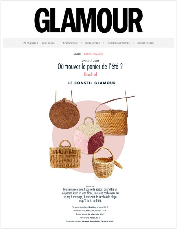 Glamour Paris,  June 1, 2017  Où trouver le panier de l'été ?