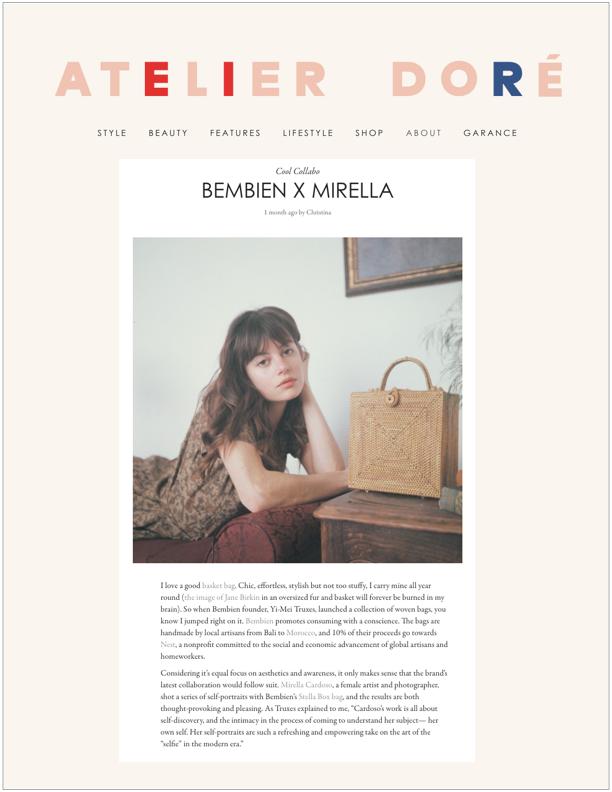 Atelier Doré , June 2018  Bembien x Mirella