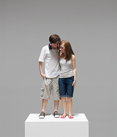 Ron Mueck,  Young Couple,  2013, mixed media, Yageo Foundation Collection, Taiwan. Courtesy Hauser & Wirth. Photo: Patrick Gries. © Ron Mueck.