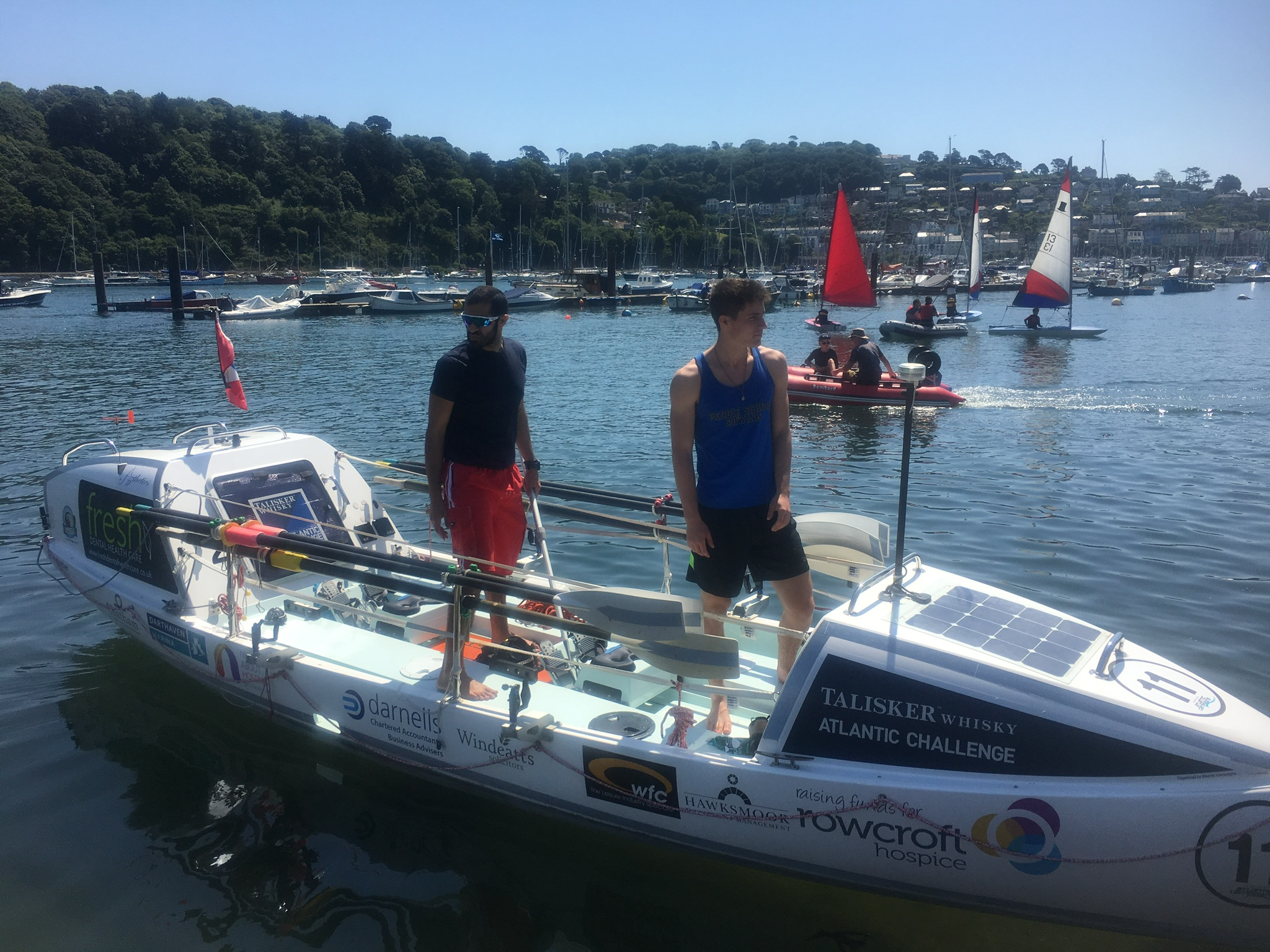 Me & SS4 pictured in Dartmouth Harbor, England.