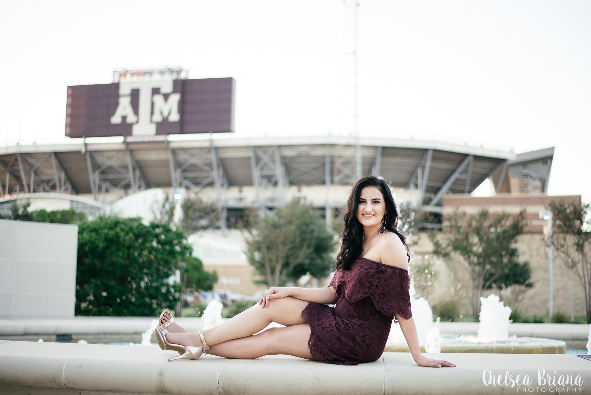 Texas A&M senior pictures campus