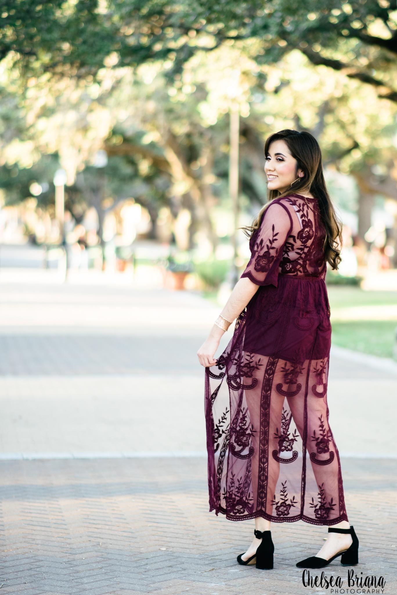 lace maroon dress