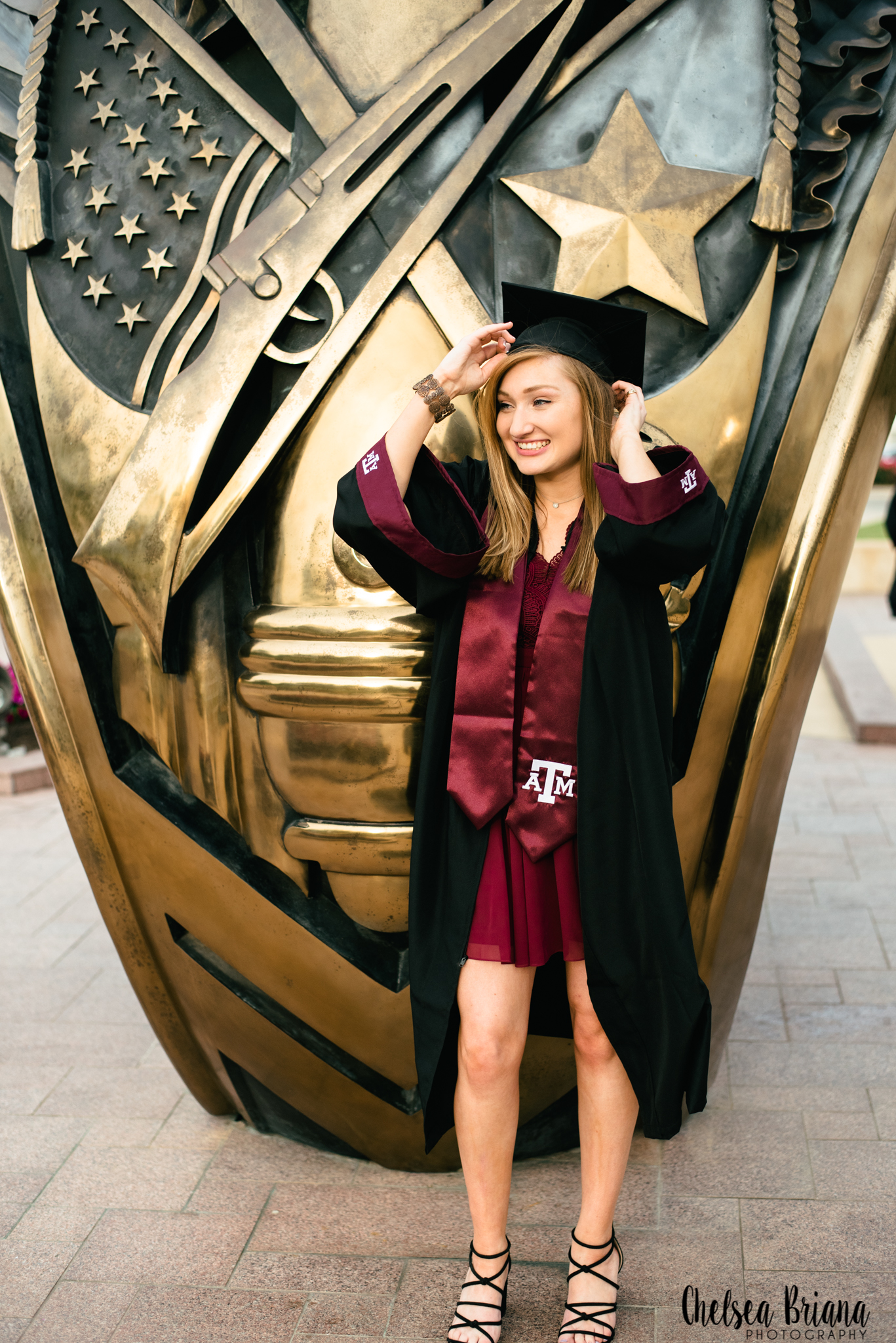 Texas A&M ring statue