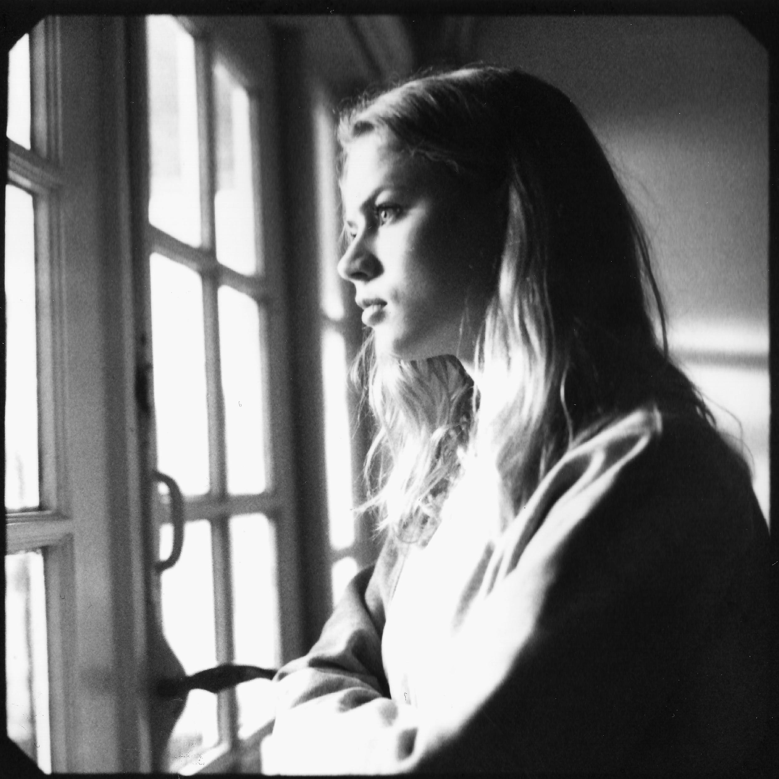 Actress Pien Bennen on the set of 'Choices' (2017) Shot onblack and white peel apart polaroid