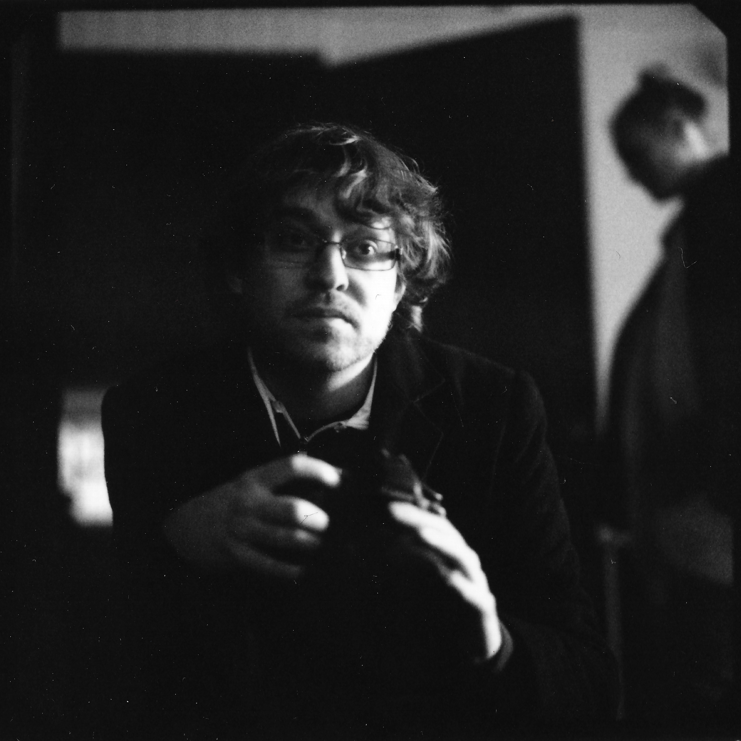 Douglas on the set of 'Choices' (2017) Shot on black and white peel apart polaroid