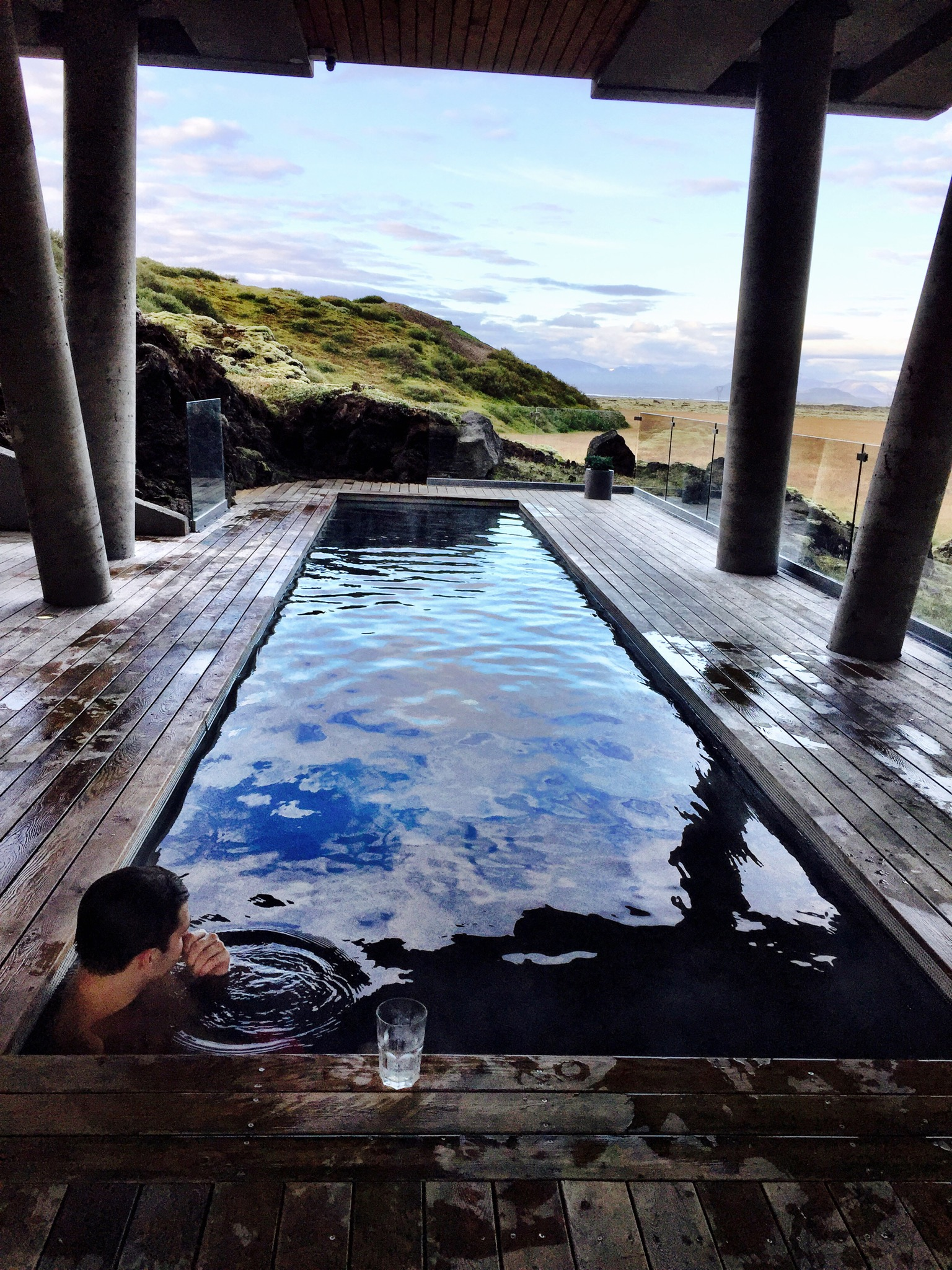 The geothermal pool at the Ion Adventure Hotel....swoon!