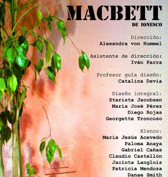 Macbett, Chille 2008