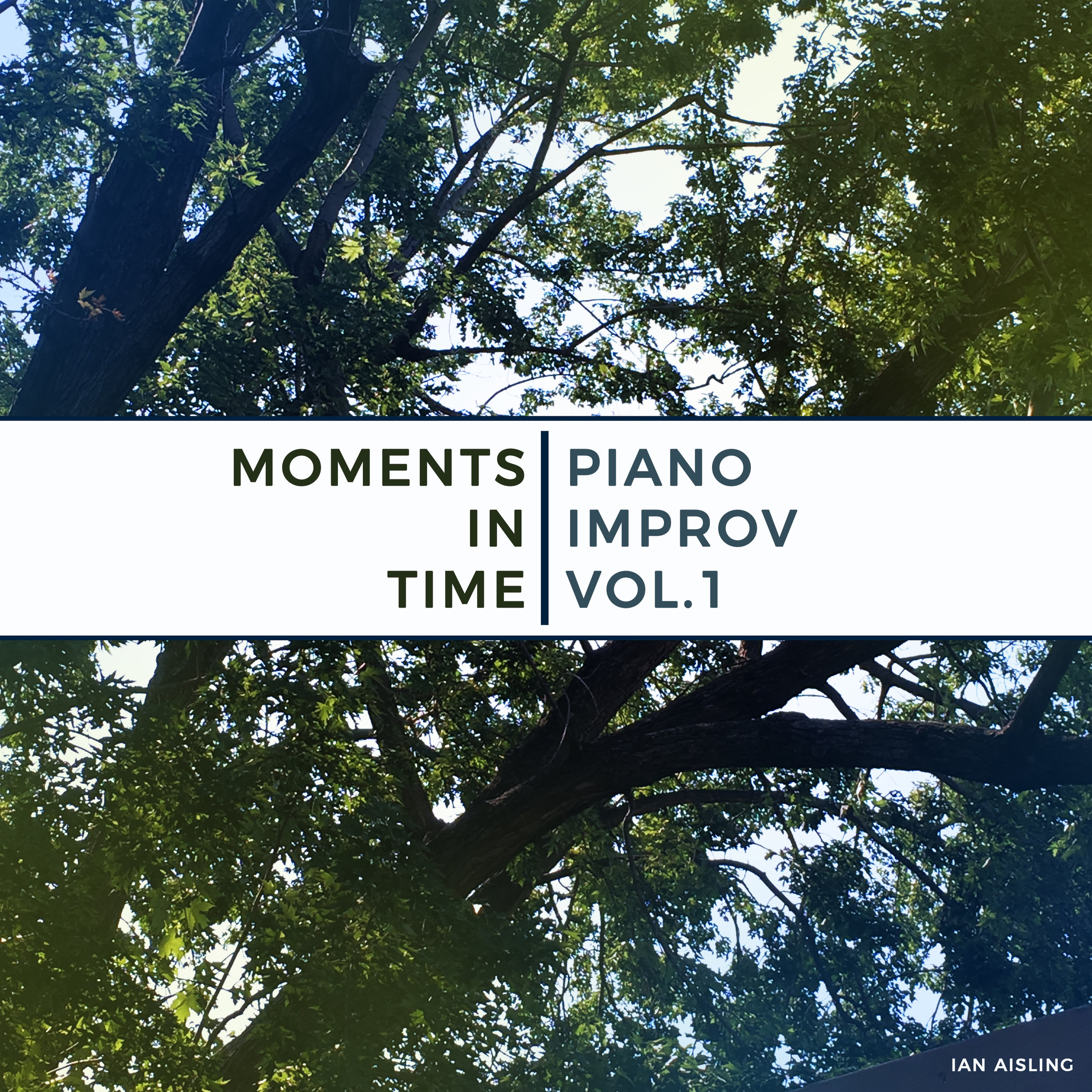"Original artwork ""Moments in Time: Piano Improv Vol.1"" by Ian Aisling."