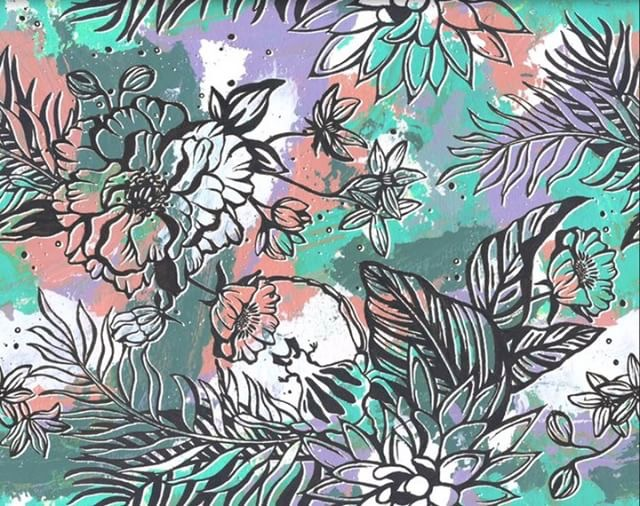 Textile design hand painted and illustrated in collaboration with Wulfka. Click image to see Wulfka's website.
