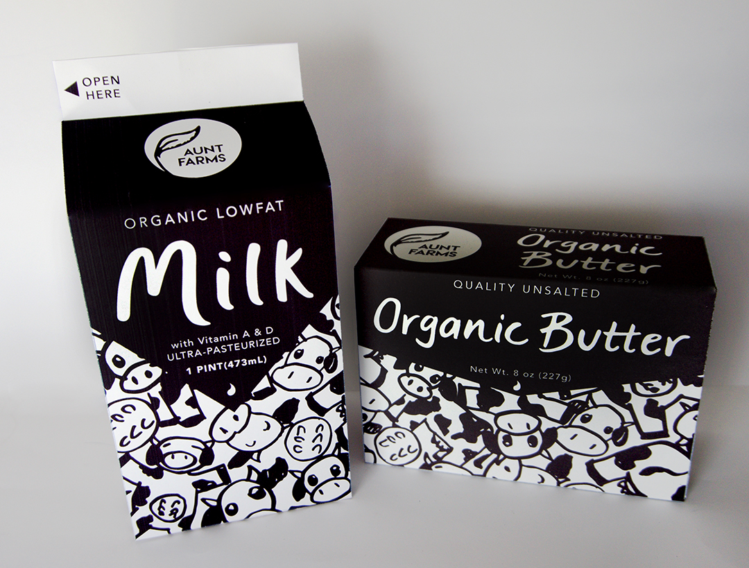 Milk and Butter Packaging