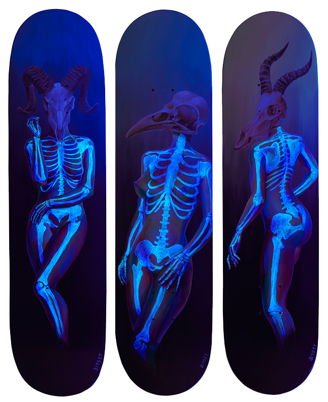 Death of Venus Under Blacklight