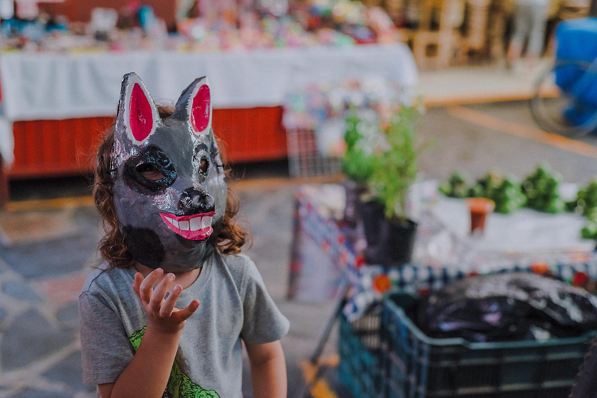 Una de las máscaras artesanales en el mercado Ignacio Ramírez de San Miguel de Allende.