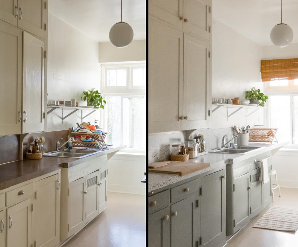 Diy Rental Kitchen Makeover For 100 Chloe Rey