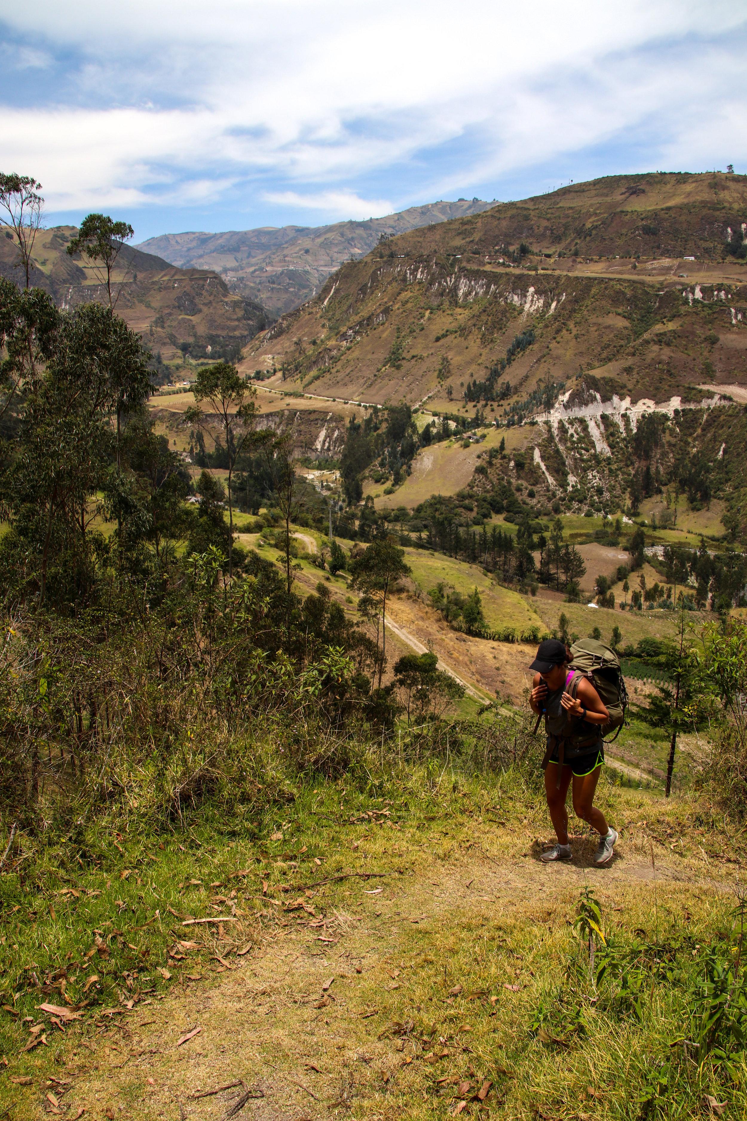 Hiking Quilotoa Loop, Ecuador, South America