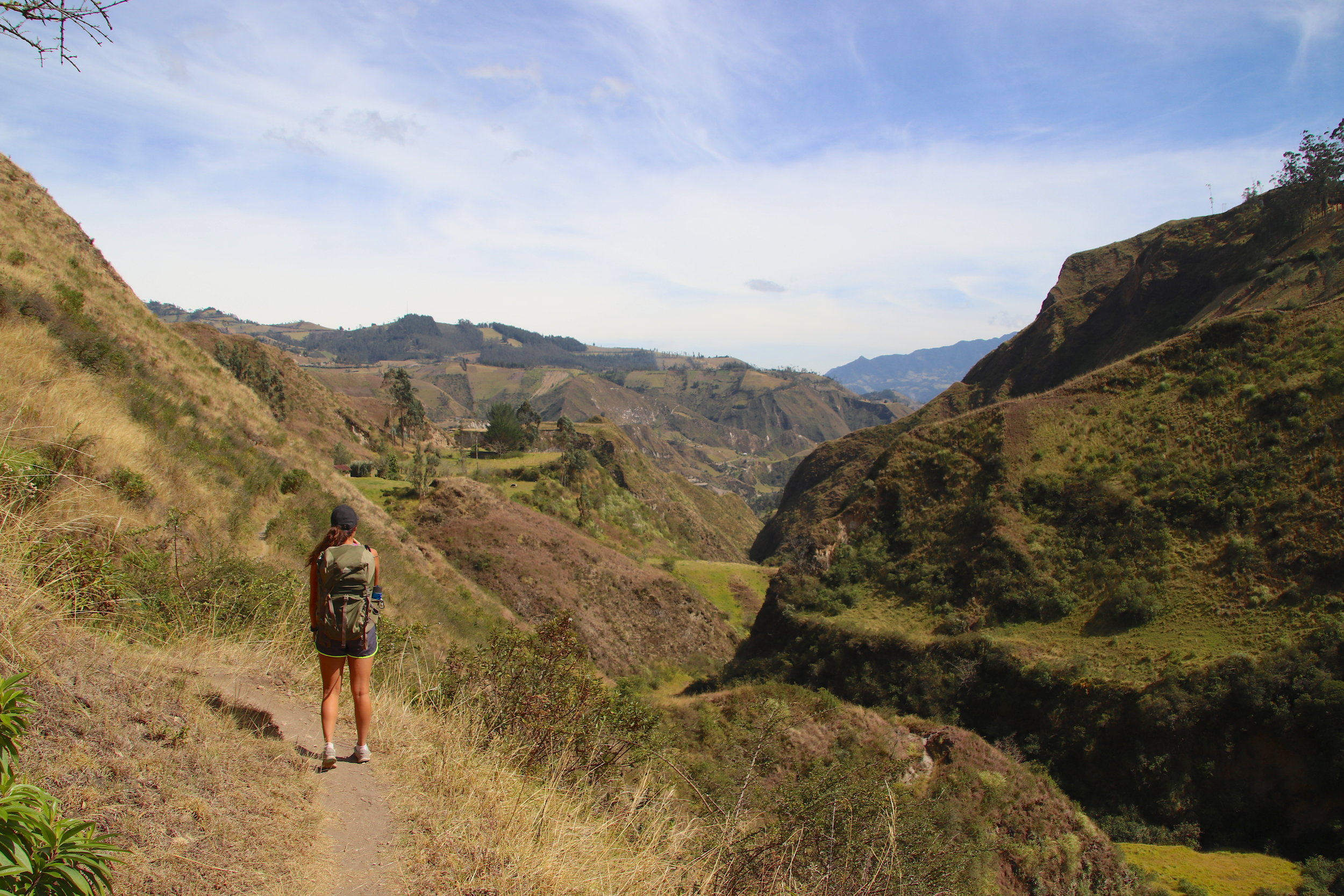 ecuador travel quilotoa loop hiking girl .JPG