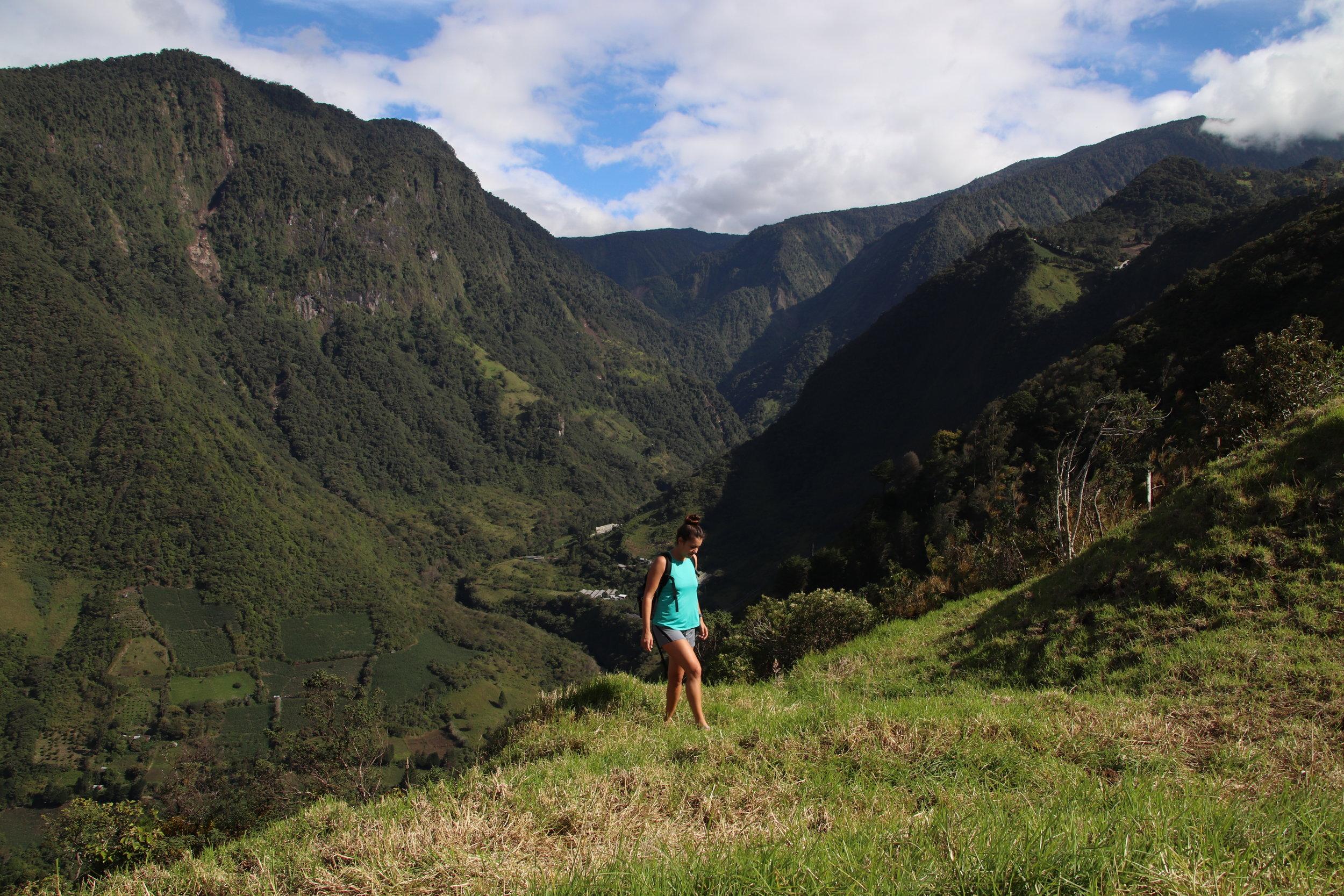 banos swing hike ecuador South America