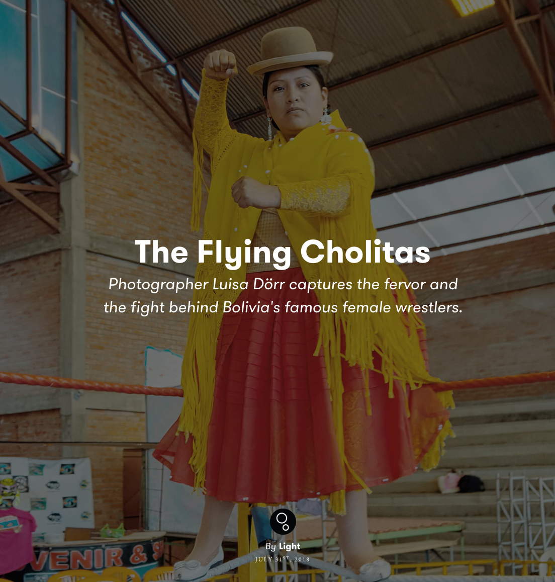Photographer Luisa Dorr documents Bolivia's famous female wrestlers.