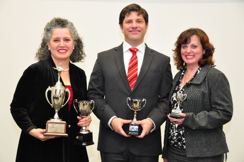 L-R: Melody Braithwaite, David Griffiths, Belinda Faulkner