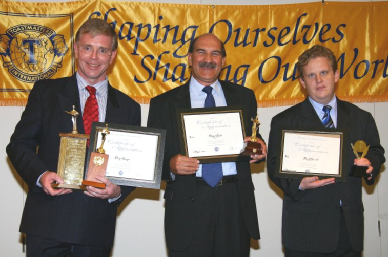 L-R: Nigel Bryan, Robert Bath, Ron Marriott