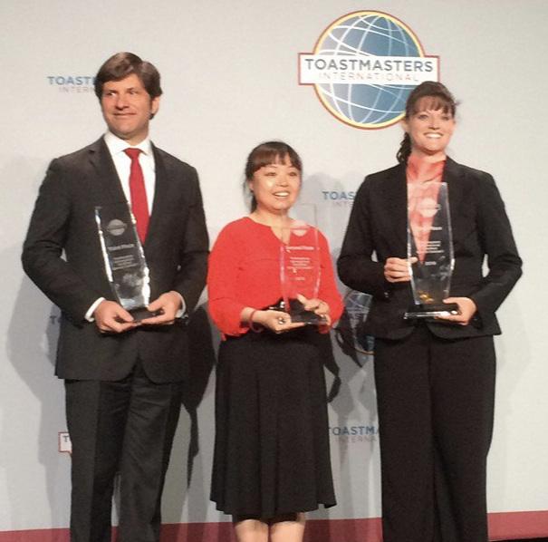 International Semi-Final, Washington. L-R: David Griffiths, Sherrie Su, Katina Hunter