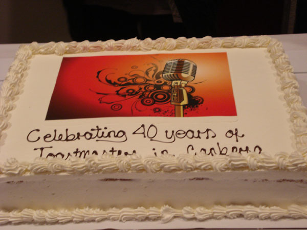 Woden Valley Toastmasters 40th Anniversary 2013 (Cake 1)