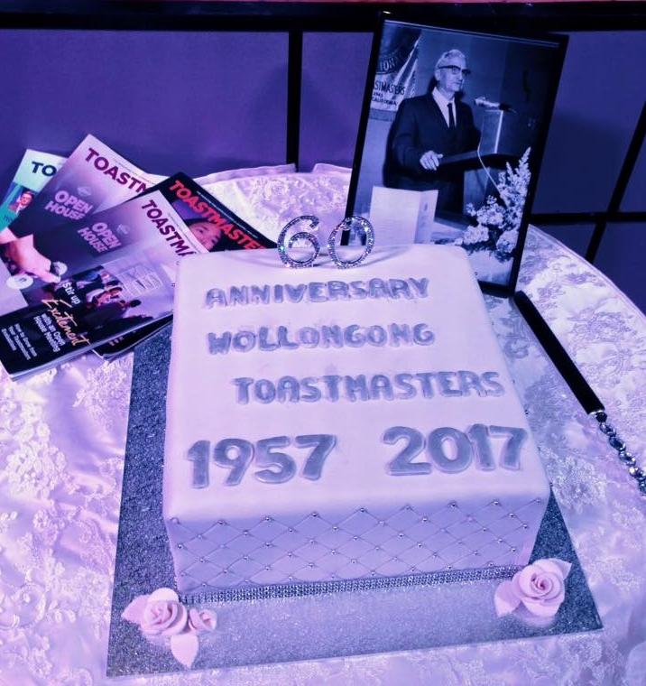 Wollongong Toastmasters 60th Anniversary - 2017   (Handmade by Mirella Troman DTM)