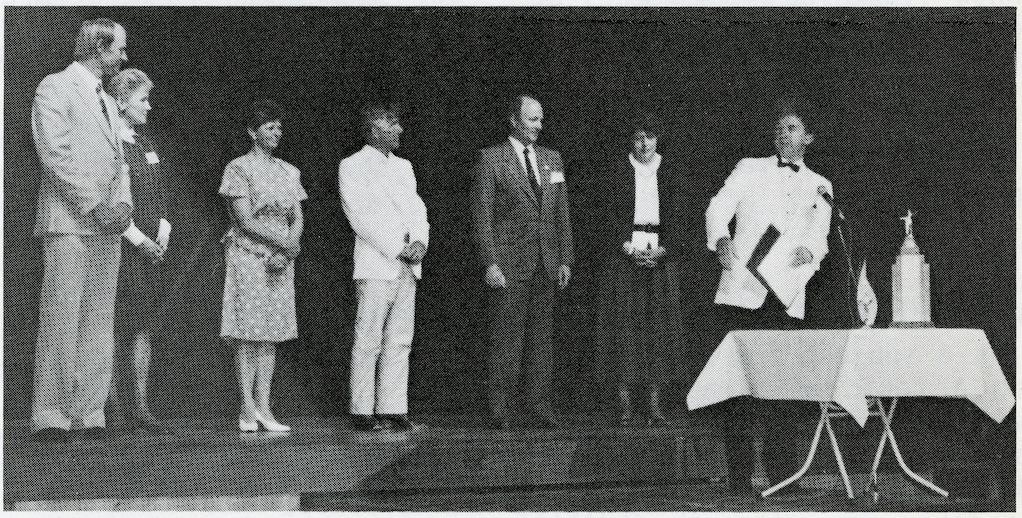 L-R: Geoff Barker, Maureen Heywood, Marcia Boyd, John Carson, Bob Jorgenson, Helen Murcutt, David Heggart