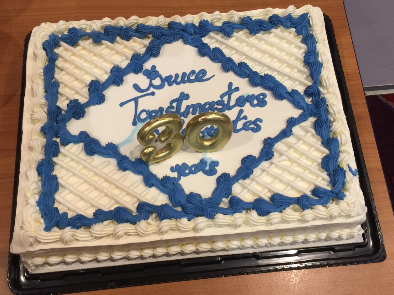 Bruce Toastmasters 30th Anniversary - April 2019