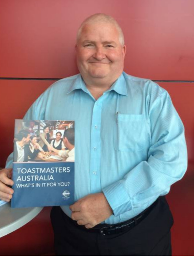 Darrell McLeod has taken on the role of President of the Shoalhaven City Toastmasters Club