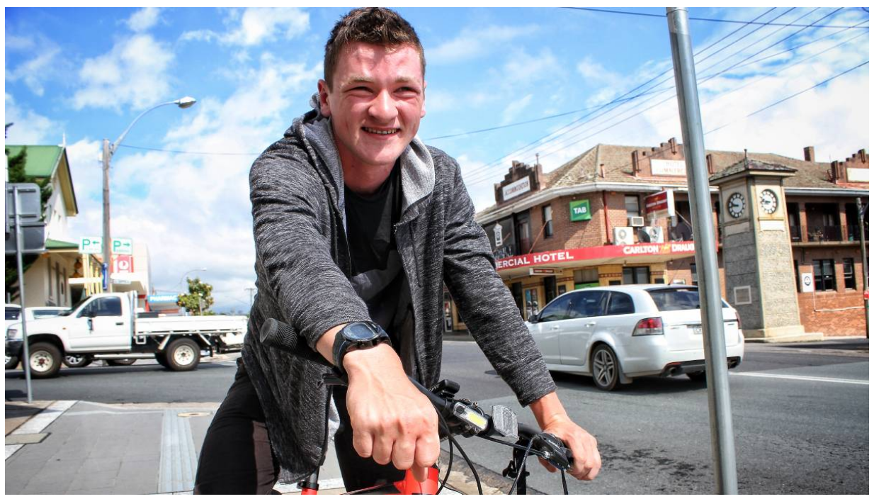 Eighteen-year-old Daniel Holka will cycle across Australia next year, and stop at events along the way to discuss social issues