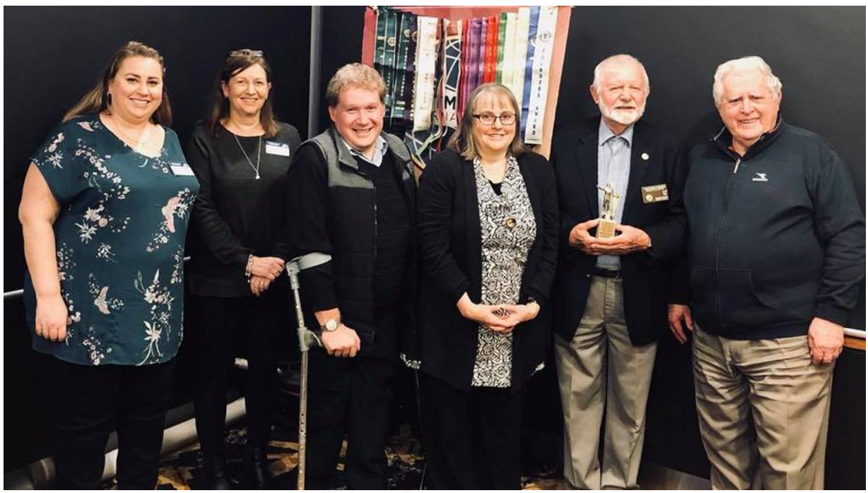The new Nowra Toastmasters Club committee is (from left) Kylie Rayner, Di Court, Greg Coulthart, Rosemary Brigden, Wolfgang Suehrer and Barrie Hepburn