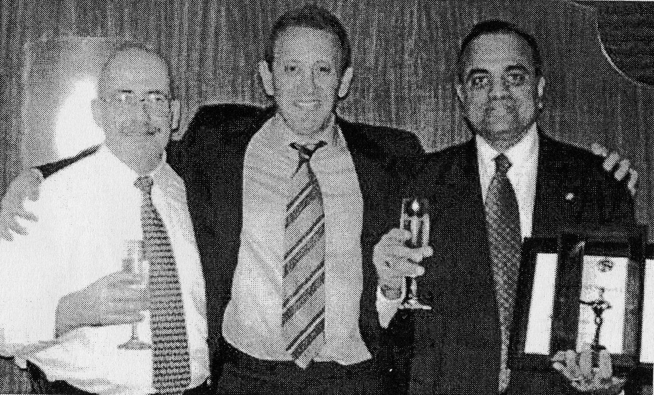 L-R: Richard King, Michael Elstein, Royston Fernandes