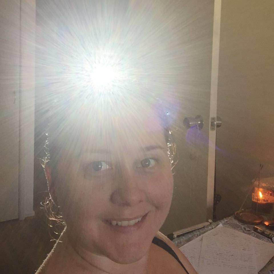 Awesome photograph of one of my spiritual consultation clients Crown Chakra, nice one Kristy Russell!