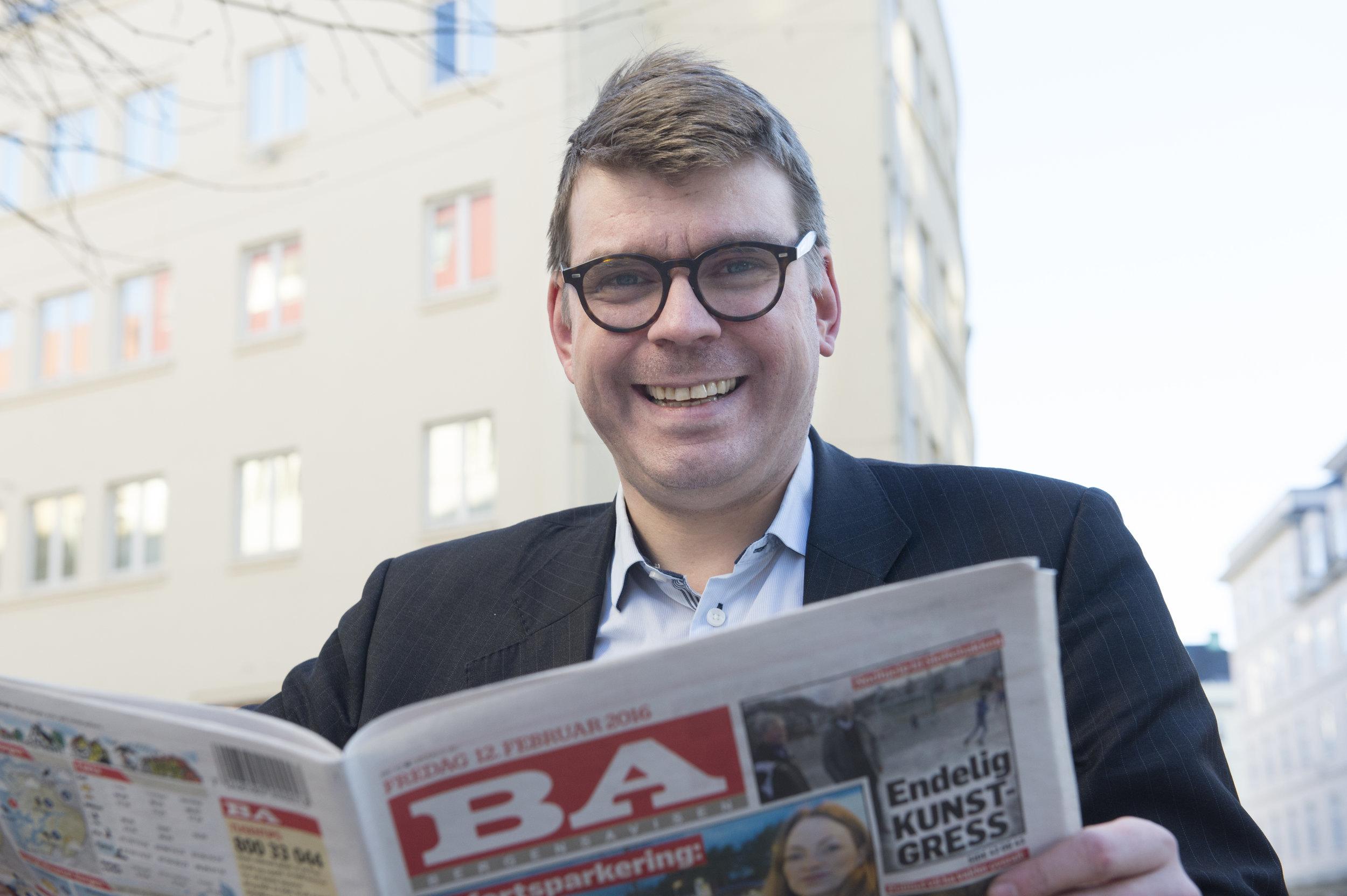 Sigvald Sveinbjørnsson   Sjefredaktør Bergensavisen