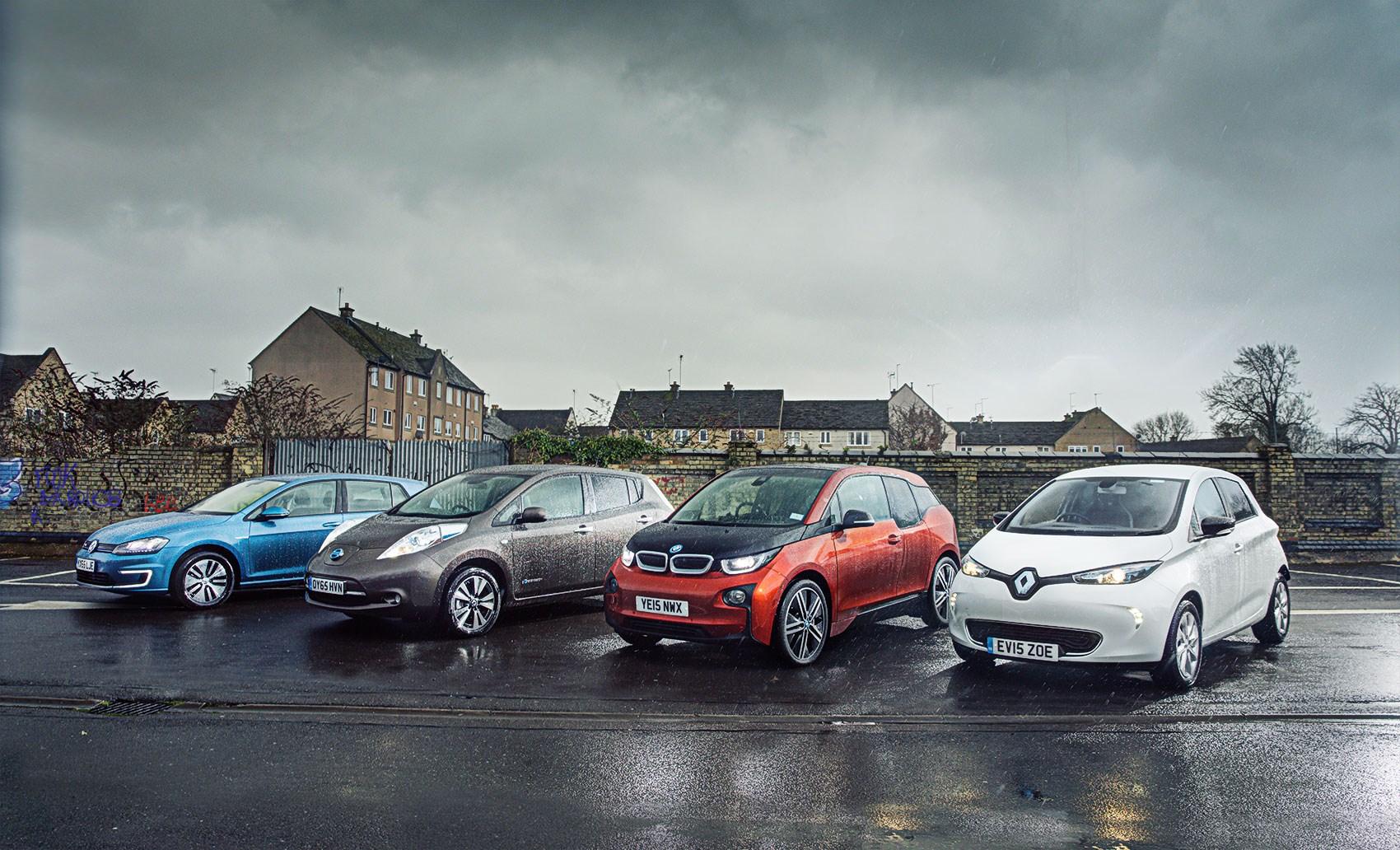 Volkswagen e-Golf • Nissan Leaf • BMW i3 • Renault ZOE