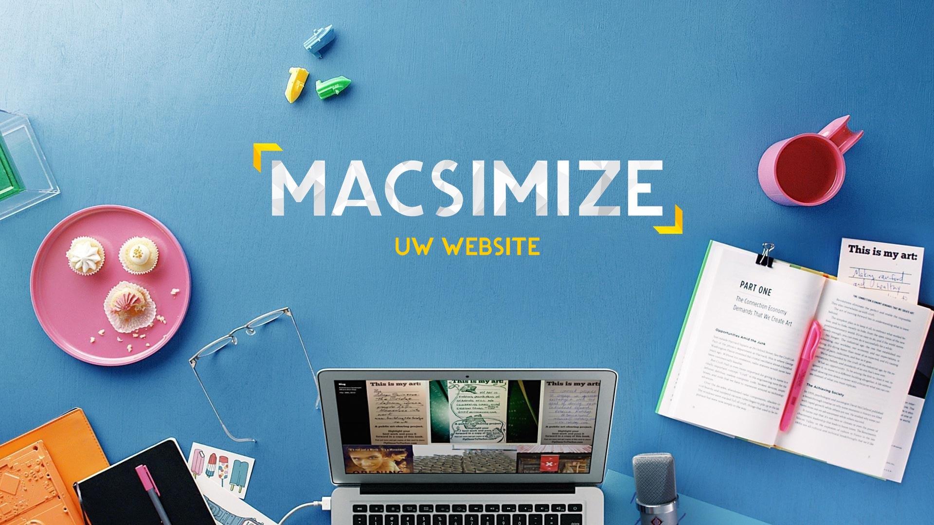 MACSIMIZE uw website - Heeft u nog geen website of is uw huidige dringend aan vernieuwing toe?In de maand augustus krijg je 20% korting.