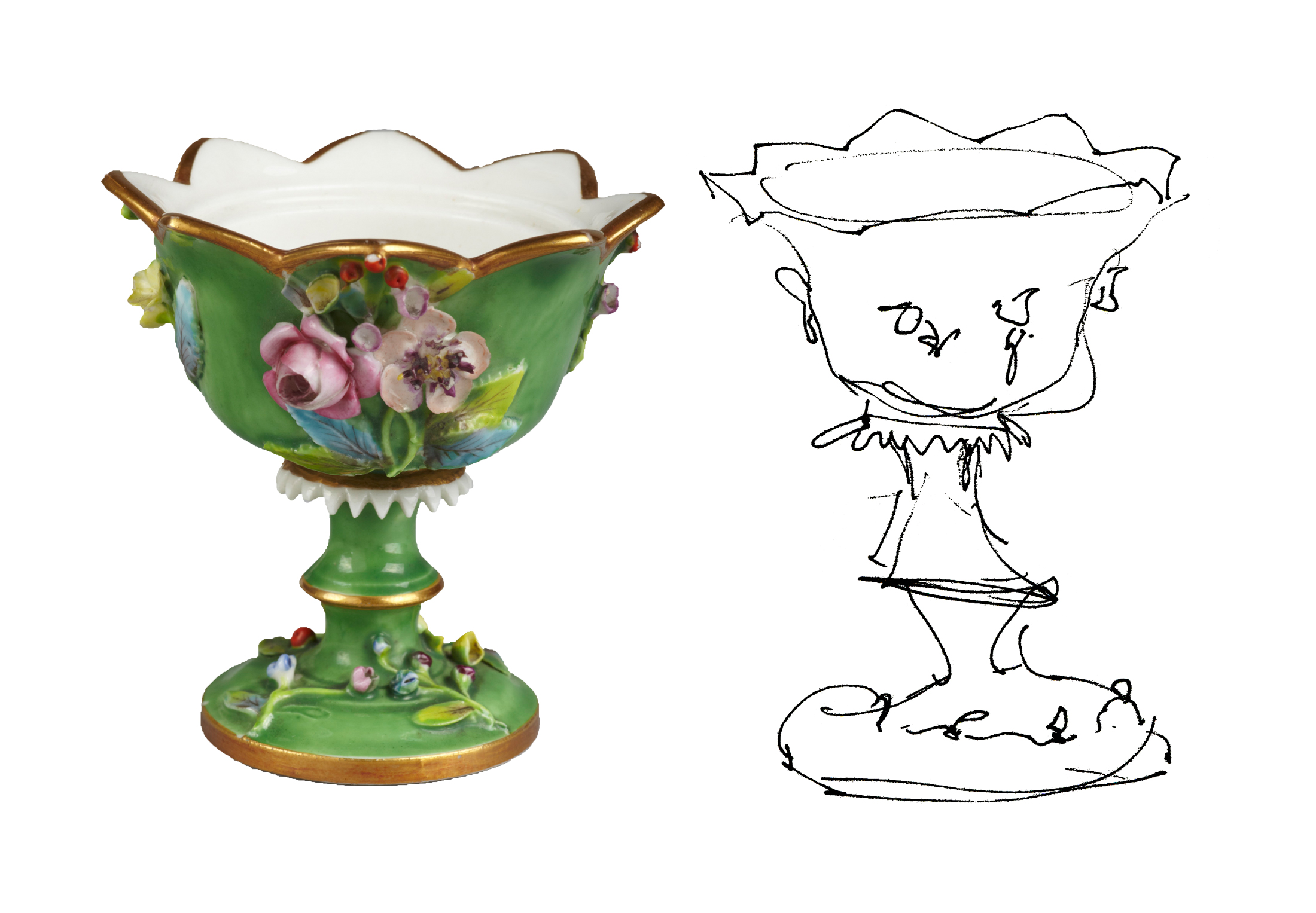 Drawing. Spode Vase