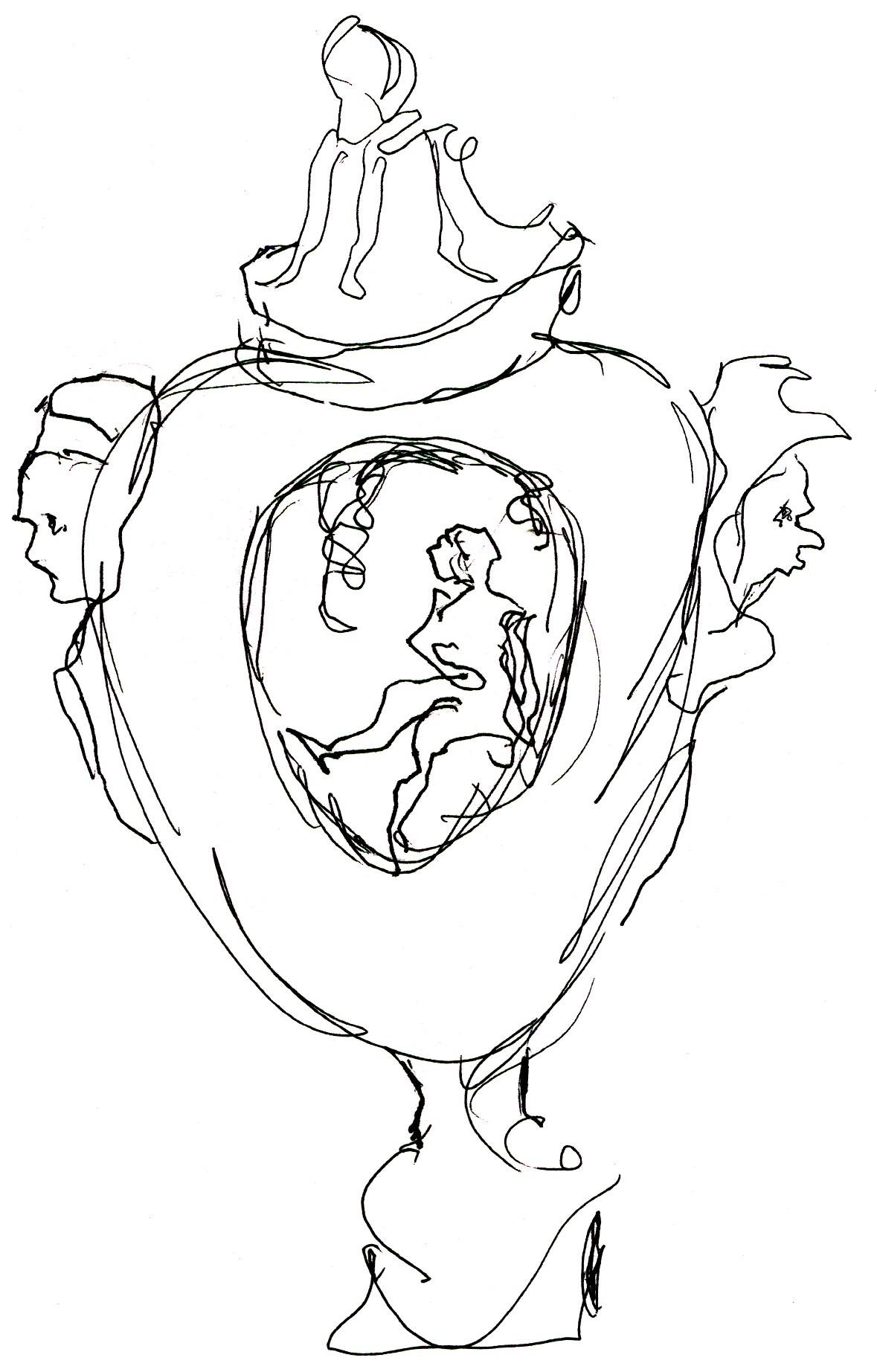 Drawing. Vase
