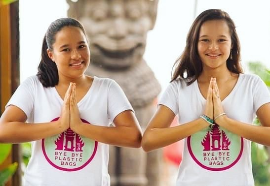 """Being kids, we thought if we get one million signatures, they cannot ignore us, they will have no choice,"" Melati said📢✨ Melati and Isabel Wijsen started campaigning against plastic bags in Bali when they were 10 and 12 years old. Follow their fights @byebyeplasticbags  #bali #changemakers #savetheplanet #bethechange #education #inspiration #kids"