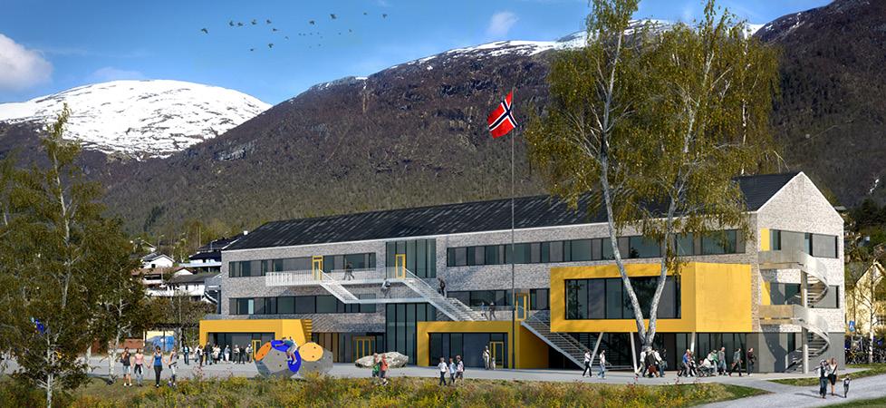 Isfjorden skole - oversiktsbilde