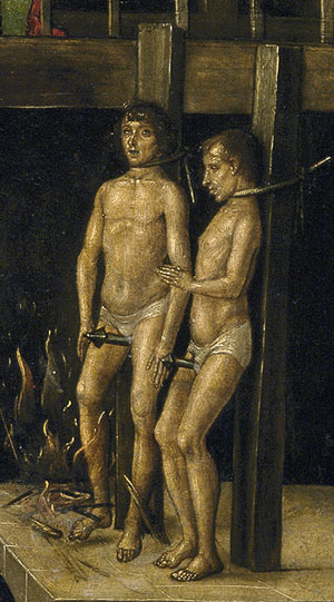 Cathars being burned - Berruguete