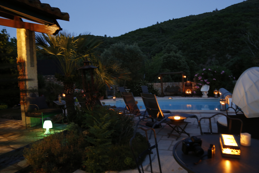 Beautiful Evenings by the Pool