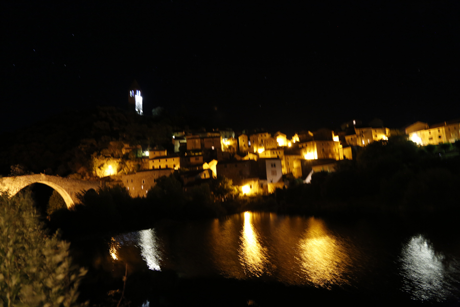 Olargues at Night