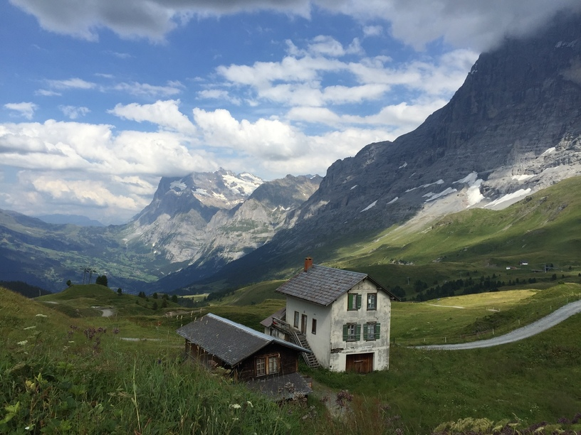 View of the Eiger and Jungfrau Mountains, Swiss Alps