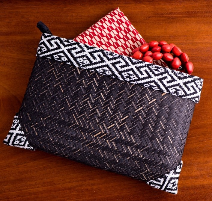 Source: Indigo Lion Global Handmade   https://www.indigolionglobalhandmade.com/laos-collection/tai-lao-bamboo-clutch-purse